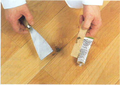 Osmo color hardwax oil for wooden floors for Wood floor hole filler